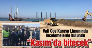 Sakarıya Valisi Coş: 'Karasu Limanı Kasım 2016'da hizmete girecek'